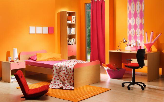Оранжевый цвет в оформлении детской комнаты