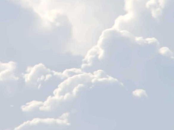 Цвет облаков на небе