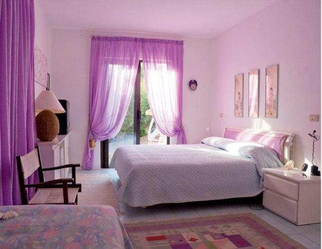 Гармоничный интерьер в фиолетовых тонах