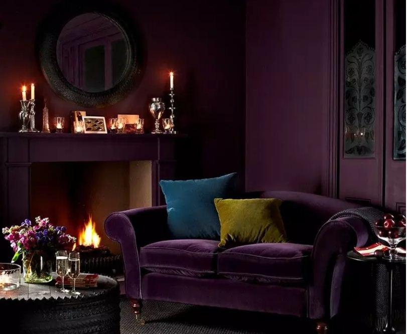 Роскошное мистическое сочетание фиолетового с черным