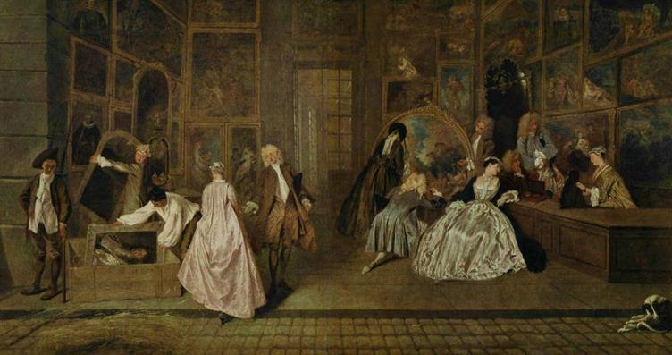 """Антуан Ватто """" Вывеска лавки Жерсена"""" ( 1720 год). Холст, масло"""