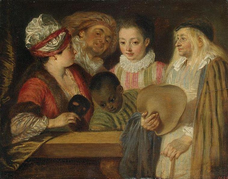 "Антуан Ватто "" Актеры Французской комедии"" ( 1712 год)"