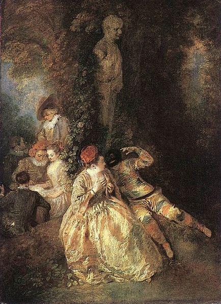 "Антуан Ватто "" Арлекин и Коломбина"" ( 1716 - 1718 годы)"