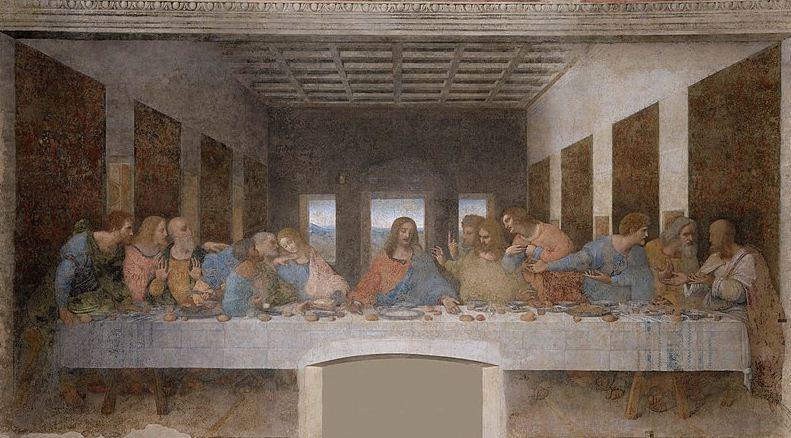 """Леонардо да Винчи. Роспись """" Тайная вечеря"""""""