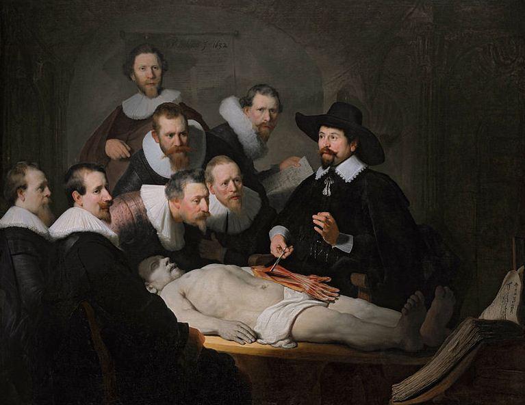 """Рембрандт """" Урок анатомии доктора Тульпа"""""""