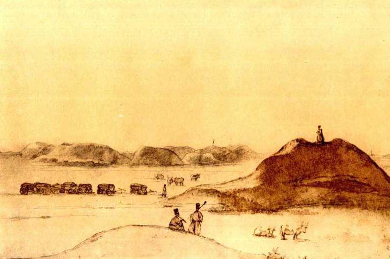 """Т. Г. Шевченко """" Чумаки среди могил"""" ( 1846 - 1847 годы)."""