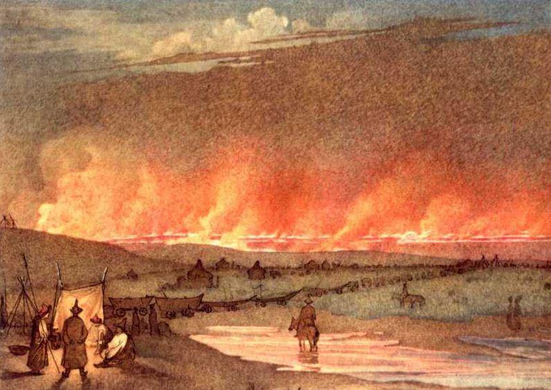 """Т. Г. Шевченко """" Пожар в степи"""" ( 1848 - 1849 годы)"""