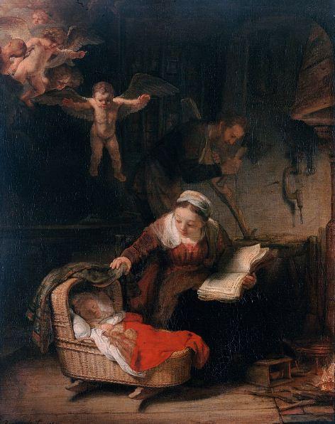 """Рембрандт """" Святое семейство """""""