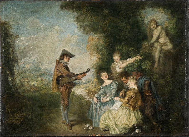 "Антуан Ватто "" Урок любви"" ( 1716 год)"