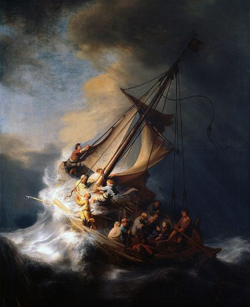 "Рембрандт "" Христос во время шторма на море Галилейском"""