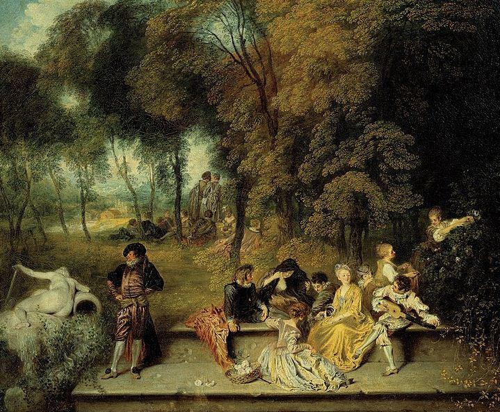 "Антуан Ватто "" Общество в парке"" ( 1718 - 1719 годы)"