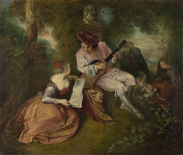 "Антуан Ватто "" Любовная песня"" ( 1717 год)"