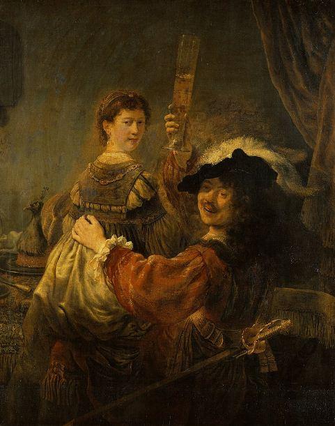 """Рембрандт """" Блудный сын в таверне"""" ( 1635 год)"""