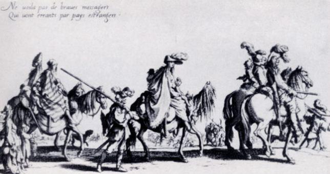 "Жак Калло. Офорт из серии "" Цыгане"" ( 1621 год)."