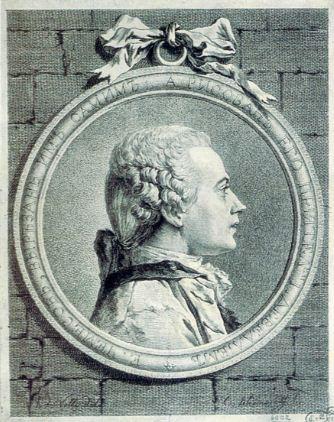 """Е. П. Чемесов """" Автопортрет"""". Офорт, сухая игла, резец ( 1764 -1765 годы),"""