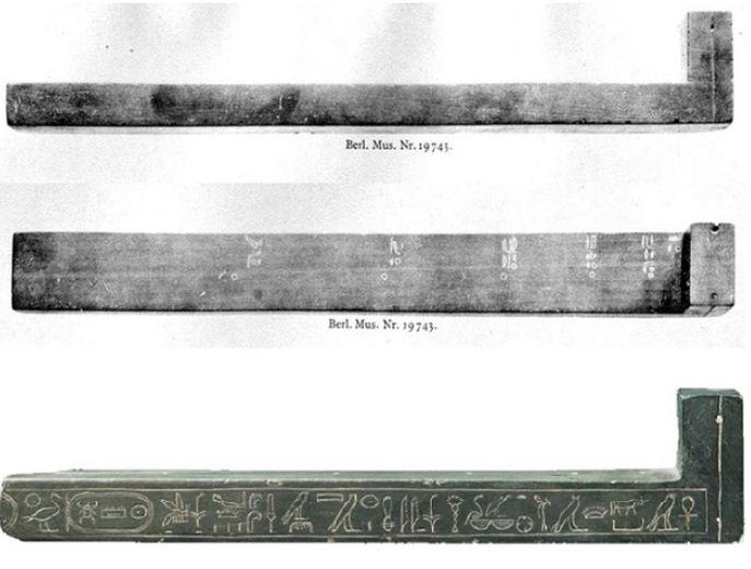 Египетские солнечные часы в форме буквы L