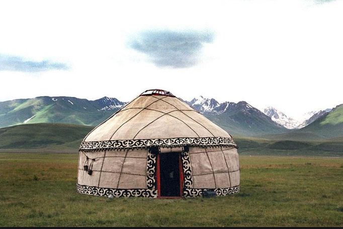 Войлочная юрта монгольских кочевников