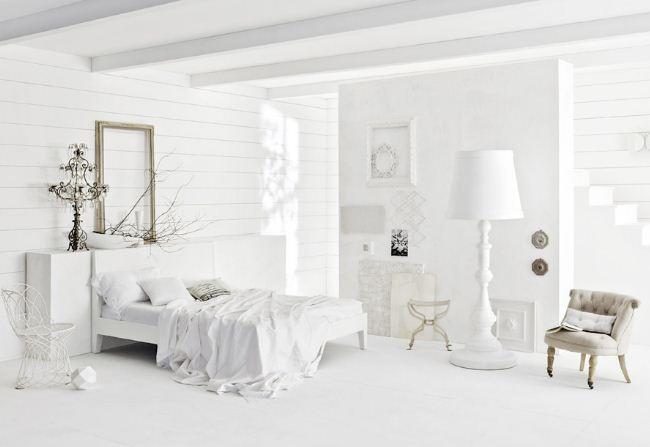 Белоснежный цвет в оформлении интерьера