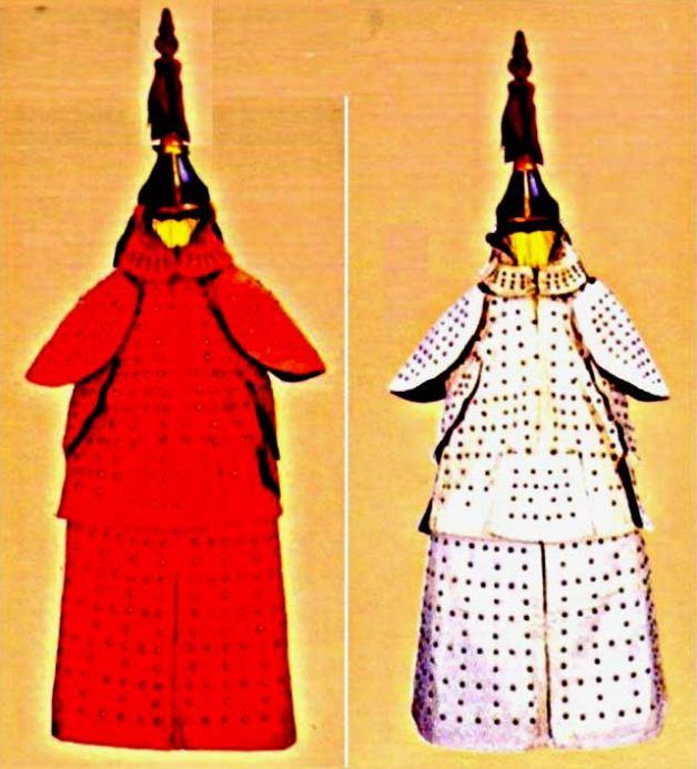 Китайские средневековые доспехи из папье - маше