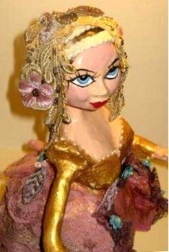 Кукла, изготовленная в технике папье - маше