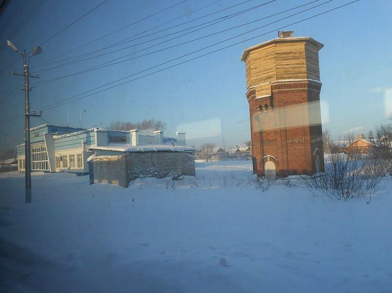 Водонапорная башня в поселке Ленинское Кировской области