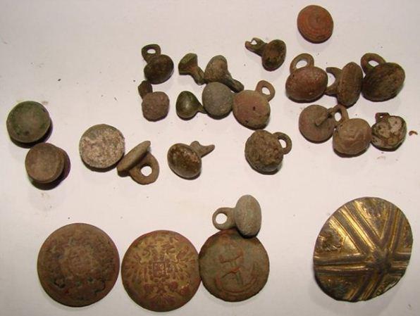 Образцы старинных пуговиц