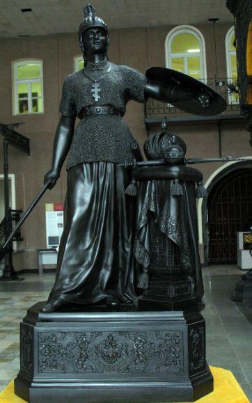 "Н. А. Лаверецкий. Скульптура "" Россия"" ( 1896 год)"