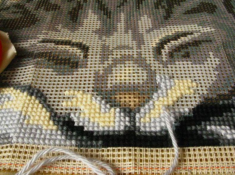 Страмин с нанесенным изображением для вышивки