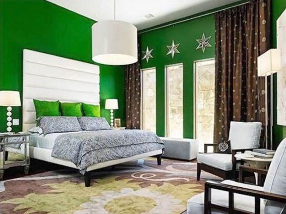 Текстиль коричневых тонов в интерьере спальни