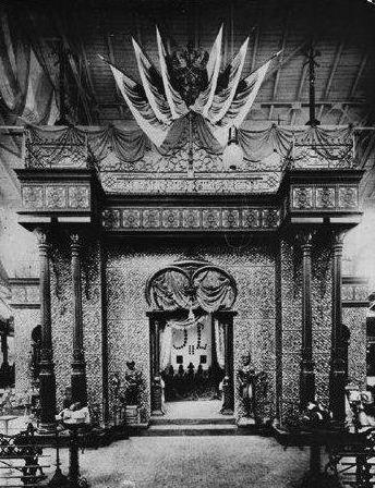 Чугунный павильон на выставке ( 1896 год)