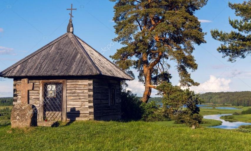 Савкин камень в Пушкинском заповеднике