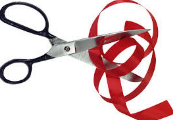 Для разрезания лент потребуются острые ножницы