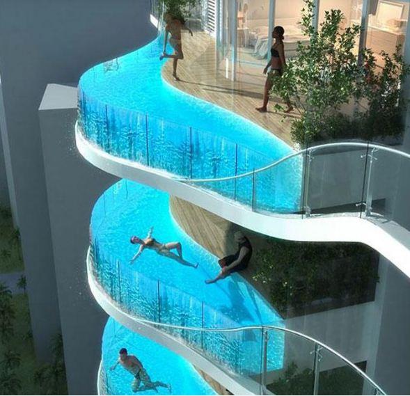 Бассейны на балконах