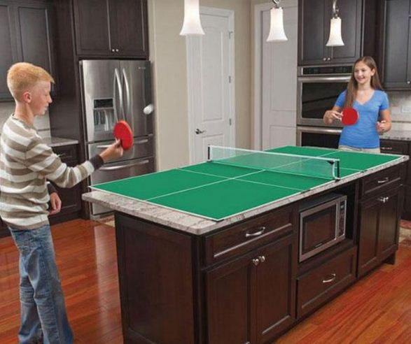 Стол для пинг - понга в интерьере кухни