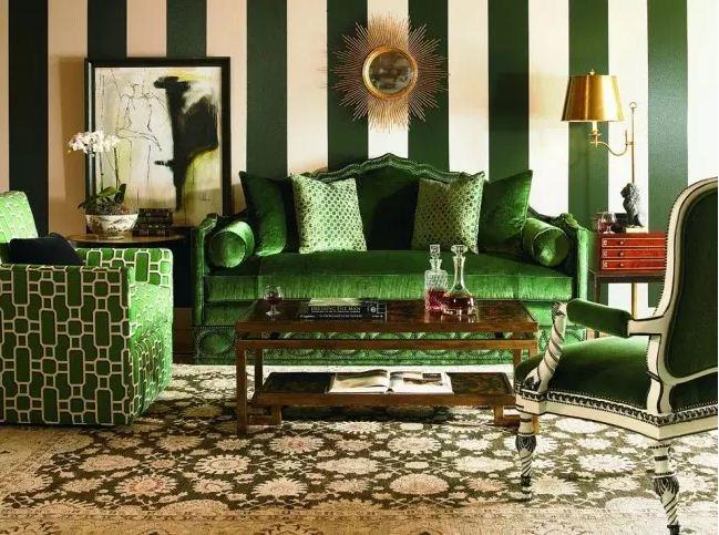 Интерьер в зеленоватой цветовой гамме