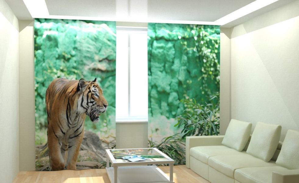 """Фотоштора """" Величественный тигр"""""""