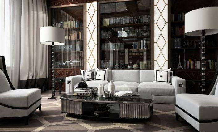 Дизайн интерьера в стилистике арт - деко