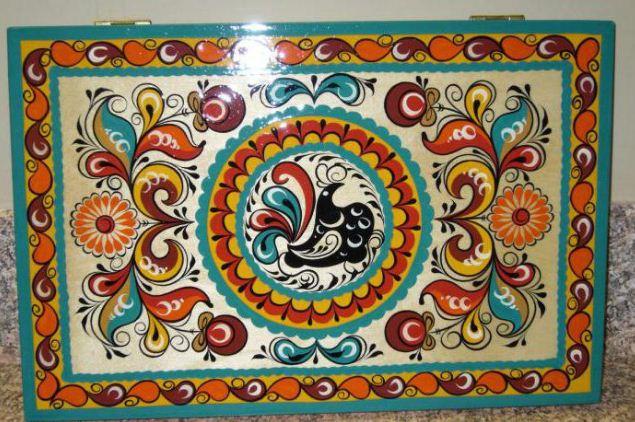 Шкатулка с ракульской росписью