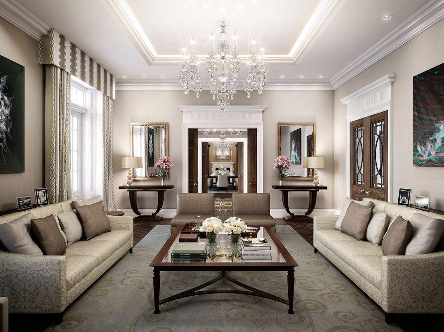 Оформление гостиной в стиле арт - деко
