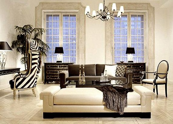 Анималистические мотивы в обивке предметов мебели в стиле арт - деко