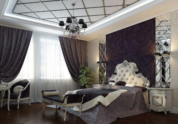 Дизайн интерьера спальни в стиле арт - деко