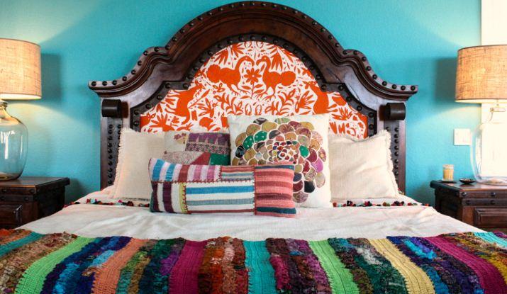 Кровать в мексиканском стиле