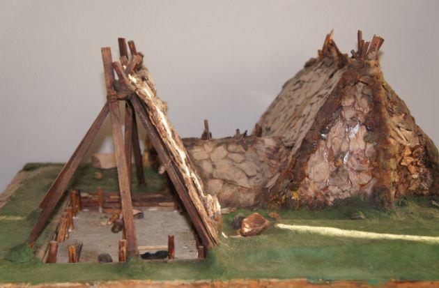 Жилище человека эпохи каменного века - реконструкция в Археологическом музее