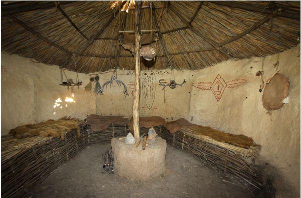 Незатейливый интерьер жилища эпохи неолита