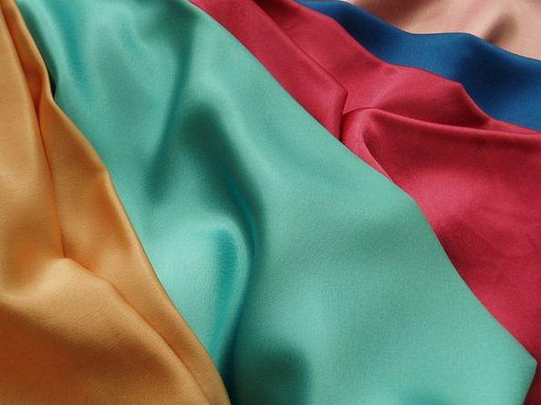 Образцы тканей сатинового плетения