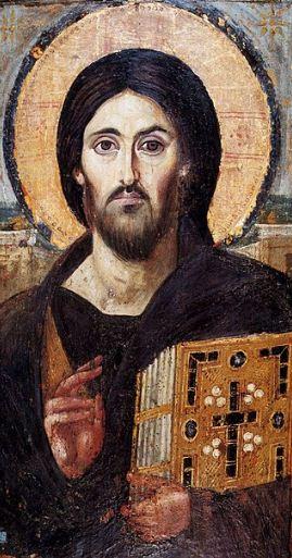 Христос Пантократор ( икона находится в Синайском монастыре)