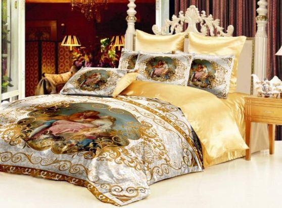 """Комплект постельного белья в сочетании с покрывалом """" Аморе"""""""