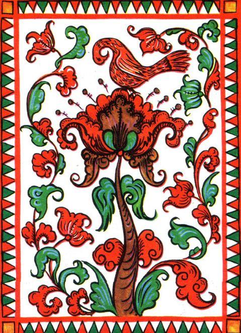 Пучужская роспись по дереву