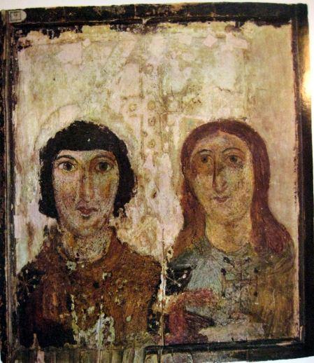 Мученик и мученица - образец ранней христианской иконы VI - VII веков нашей эры