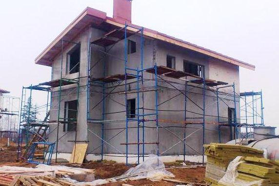 Скоростной монтаж дома из железобетонных панелей